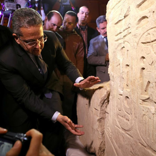 Inscription reveals identity of colossus unearthed in Cairo slum
