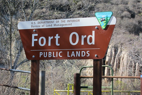 Fort Ord sign by Conservation Lands Foundation