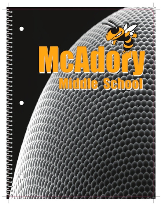 Spiral-bound Notebook for McAdory Middle Fall 2015