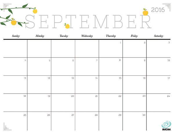 Cute and Crafty 2016 Printable Calendar
