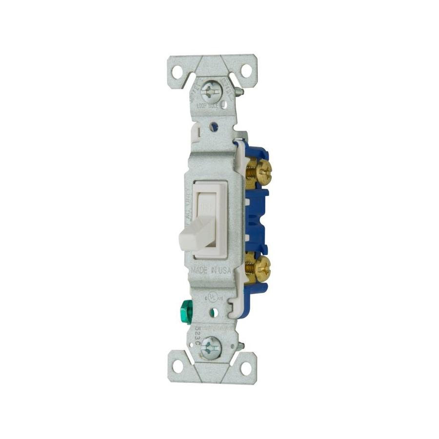 Eaton 15 Amp Single Pole White Toggle Light Switch In The Light Switches Department At Lowes Com