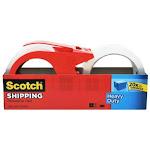 "Scotch 3850-2-1rd Heavy Duty Shipping Packaging Tape, 1.88"" X 54.6 Yd, Clear"