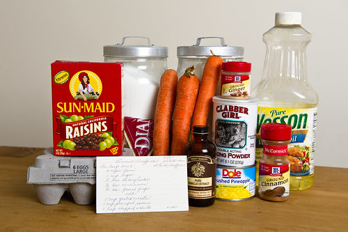 Carrot Muffins - Ingredients