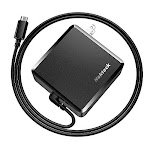 USB C Wall Charger, Nekteck 90W Power Delivery Laptop Charging Adapter with Built-in 6ft Type Cable for MacBook Pro/Air 2018, Dell XPS, Matebook, HP
