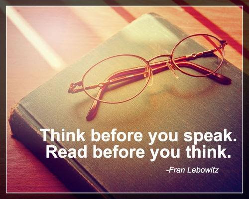 Think Before You Speak Read Before You Think Picture Quotes