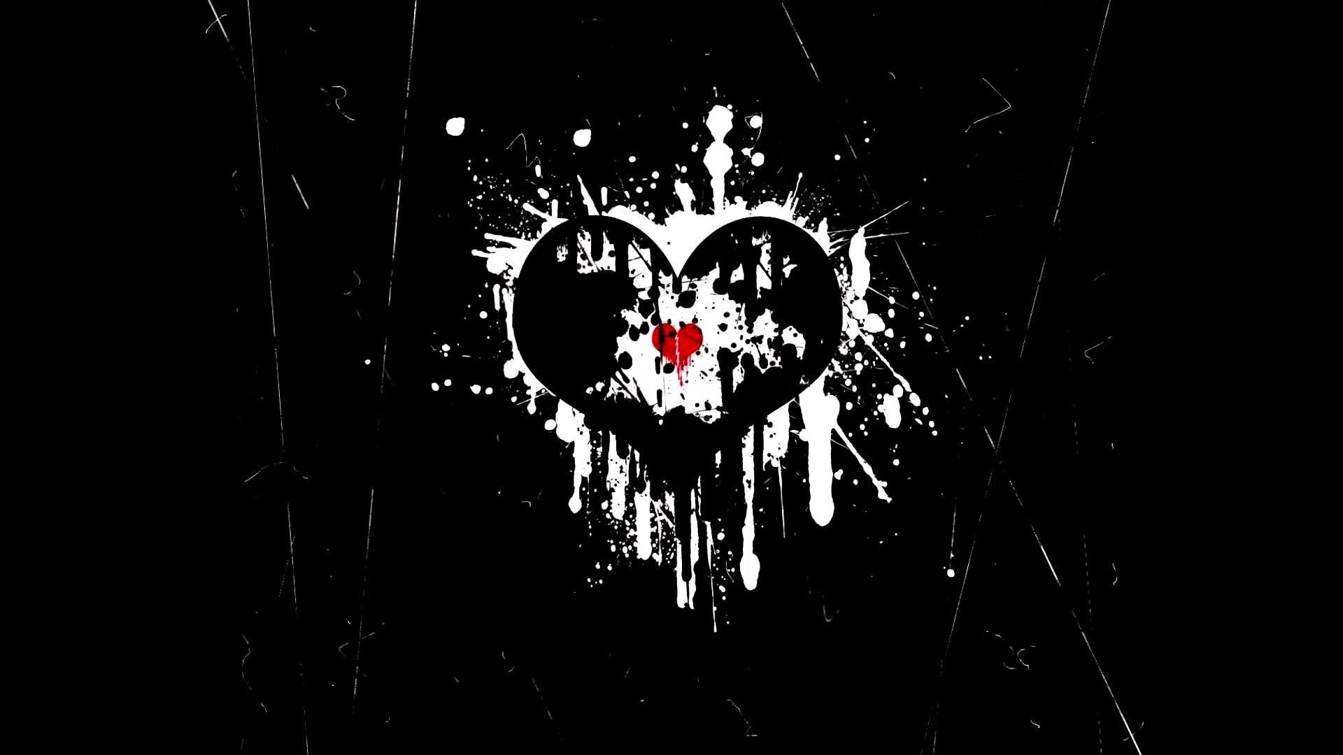 Get Inspired For Wallpaper Broken Heart Black Background ...