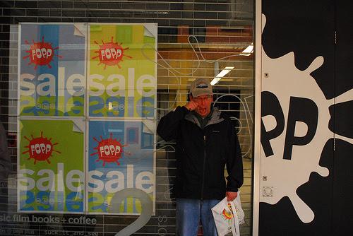 Terribly upset customer at Fopp Manchester