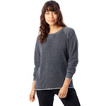 Alternative Lazy Day Burnout French Terry Pullover Sweatshirt M Washed Black , Alternative Apparel