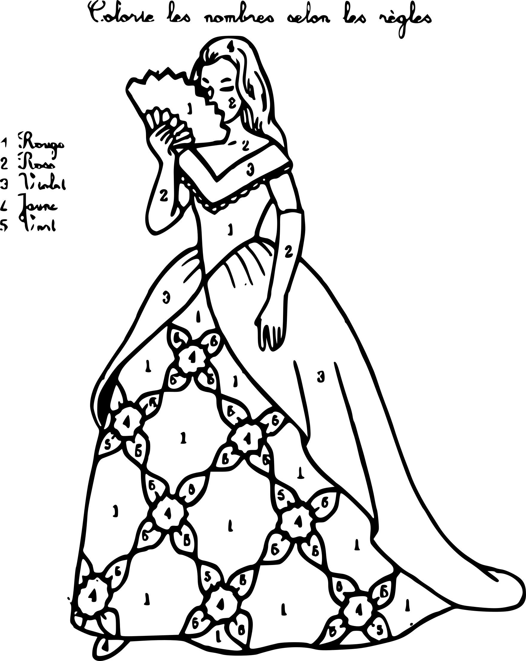 Coloriage Magique De Princesse A Imprimer Laurent Falguiere