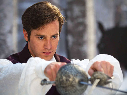 thekatattack:  Armie Hammer as Prince Andrew Alcott in the new Snow White movie O.O