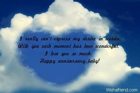 I really can't express my desire, Anniversary Message for
