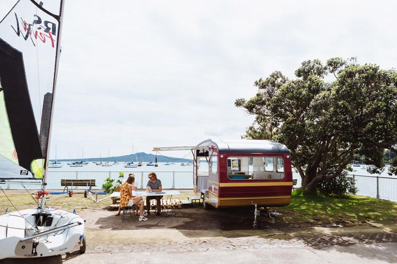 studio106 transforms a retro caravan into a mobile office