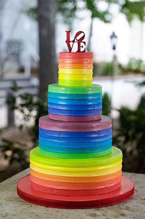 Rainbow Wedding Cake Cake Ideas and Designs
