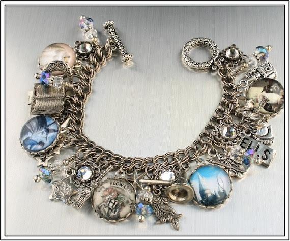 Harry Potter Inspired, Vintage Inspired Charm Bracelet
