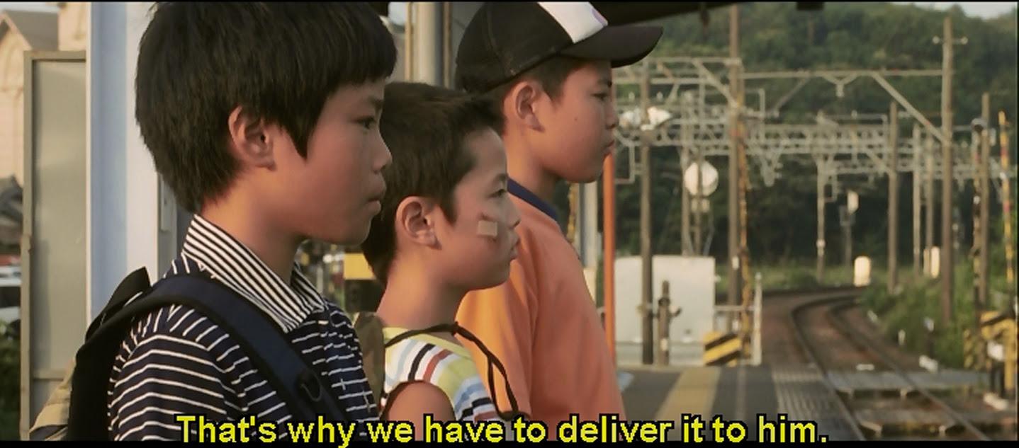 Three boys on a mission.
