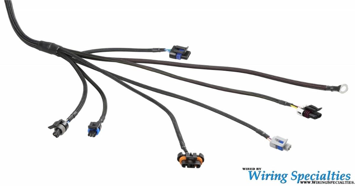 Vortec Engine Wiring Harnes Labeled