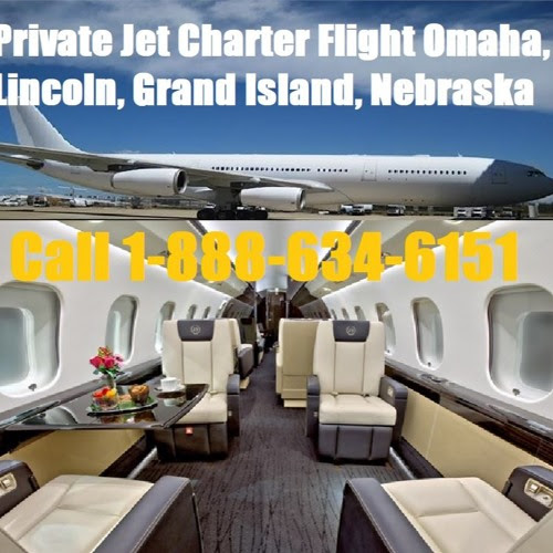 Executive Private Plane Jet Charter Flight Service Omaha, Lincoln, Grand Island, Nebraska by WysLuxury Private Jet Charter Flight Service