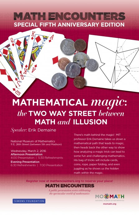 Math Encounters – National Museum of Mathematics