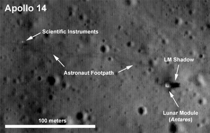 The Apollo 14 landing site as seen by LRO a few days ago.