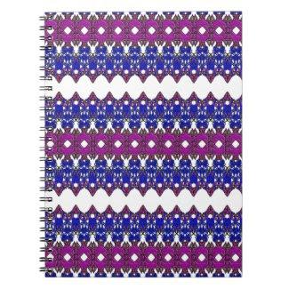 Hypnotic Design on Spiral Notebook