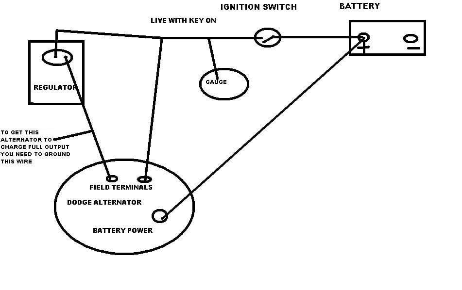 91 dodge durango alternator wiring image 4