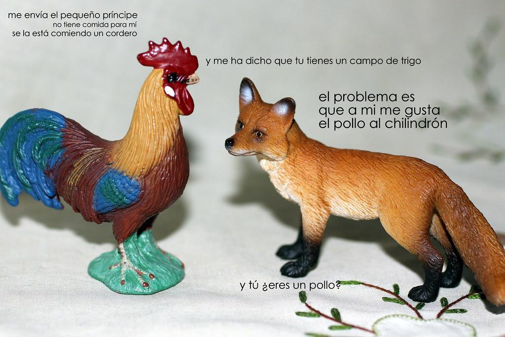 el gallo y el zorro del Pequ3ño Príncip3