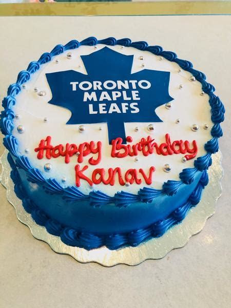 Toronto Maple leafs Photo Cake   Rashmi's Bakery