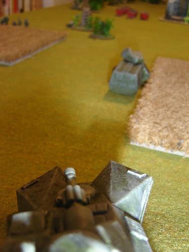 Light Tank on top of ridge