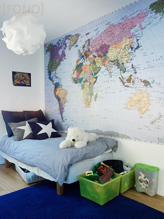 haritalı duvar kağıdı