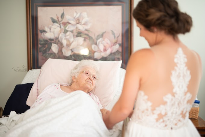 FOX NEWS: Bride stages first look with grandmother in hospice before wedding day