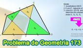 Problema de Geometría 173 (ESL): Cuadrilátero, Puntos medios de 2 lados, Triángulos, Suma de Áreas.