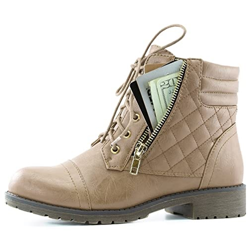 FashionShop: Women's Military Up Buckle Combat Boots Ankle