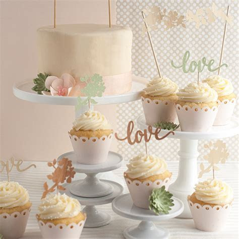 DIY Wedding Cake and Cupcake Topper   Lia Griffith