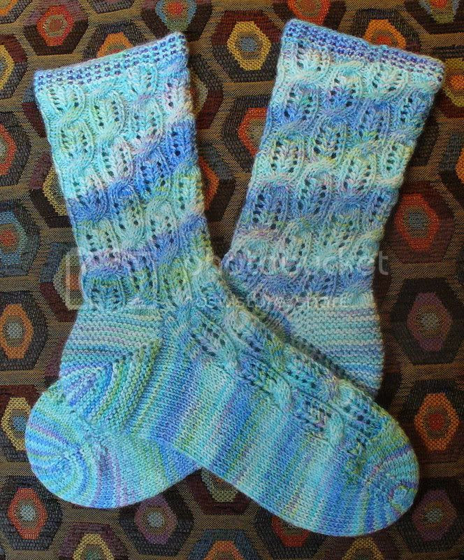 Crystals Combs and Cables Socks
