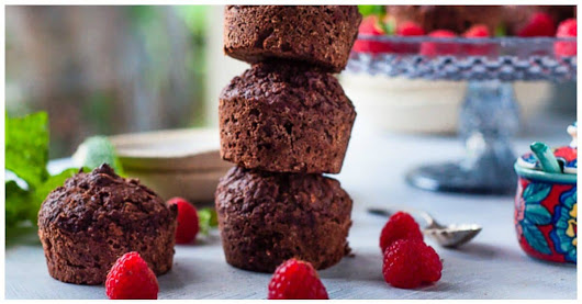 Healthy Chocolate Sweet Potato Muffins