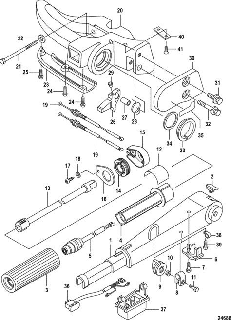 Mariner 9.9 HP (4-Stroke) (209 cc) Tiller Handle Parts