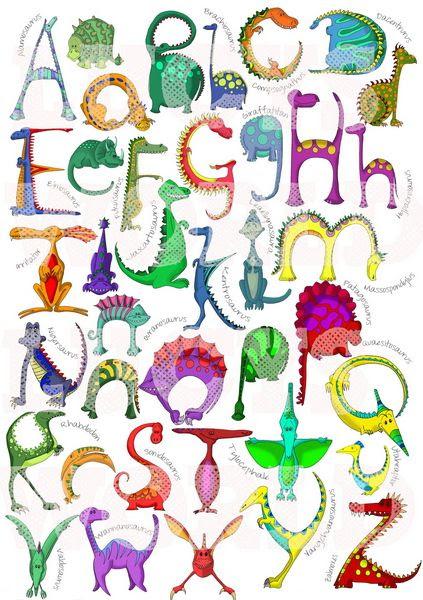 Dinosaur Alphabet Poster | house stuff | Pinterest | Alphabet ...
