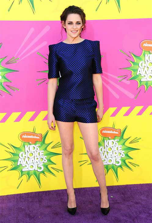 Kristen Stewart appears at the 26th annual Nickelodeon Kid's Choice Awards in Los Angeles, California on March 23, 2013.
