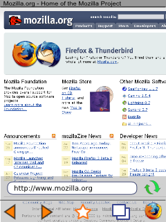 Mobile Firefox second UI proposal, toolbar