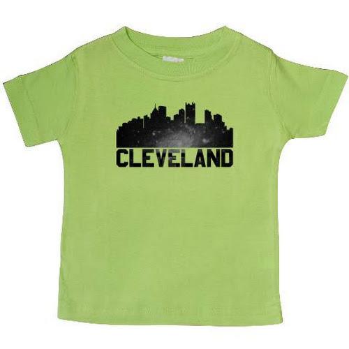 7a453a2b Inktastic Cleveland Skyline Baby T-Shirt, Infant Boy's, Size: 24 Months,  Green