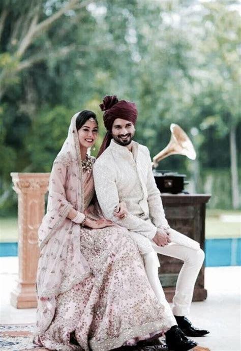 Shahid Kapoor & wife   Wedding dresses   Indische hochzeit