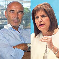 El ex titular de la Aduana Juan José Gómez Centurión y la ministra de Seguridad, Patricia Bullrich.