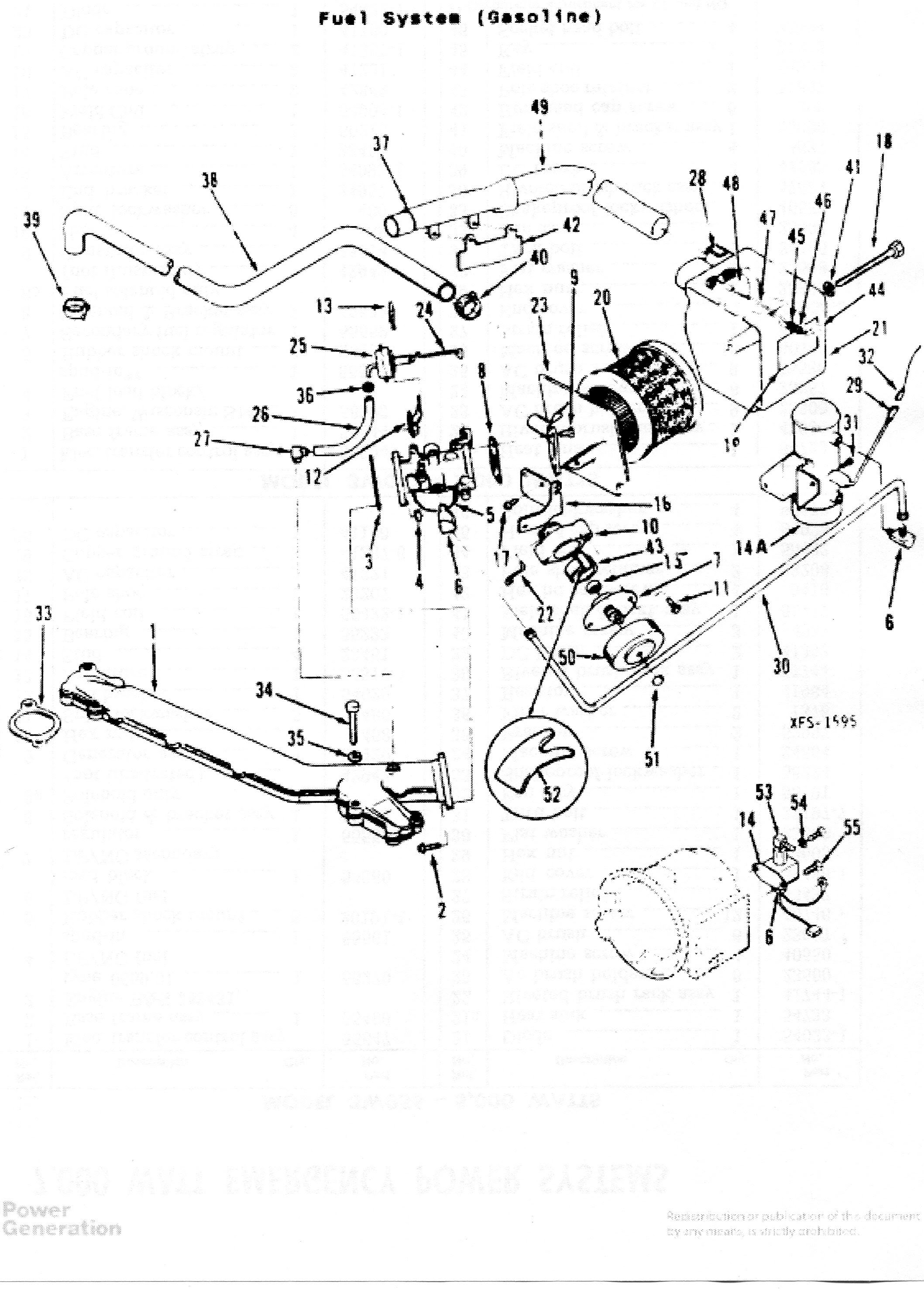 Onan 5500 Marquis Gold Generator Parts Diagram