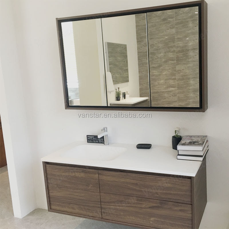 Illuminated Stainless Steel Bathroom Mirrored Medicine Cabinet With