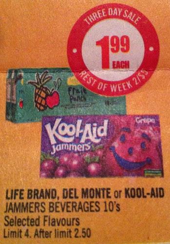 Shoppers Drugmart - savings on fruit juice