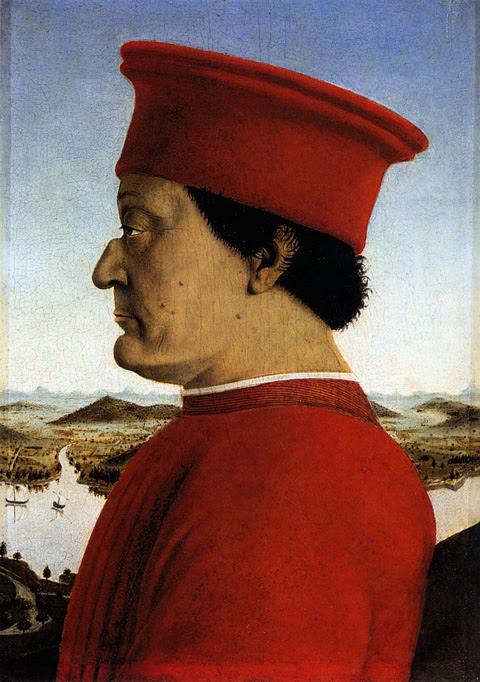 Ritratto di Federico da Montefeltro di Piero della Francesca, (1465-1472 circa)