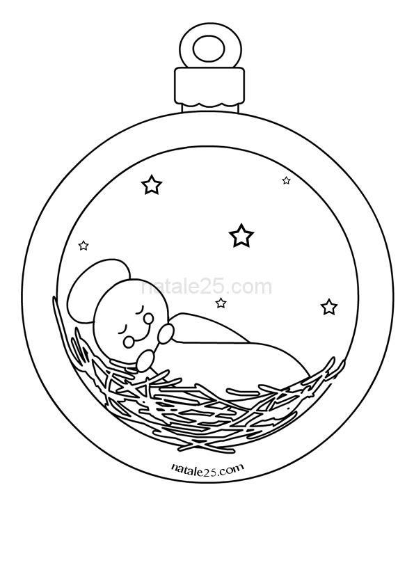 Pallina Di Natale Con Bambinello Natale 25