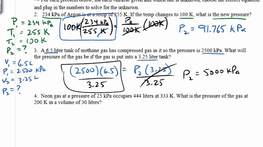 Mixed Gas Laws Worksheet - Karibunicollies