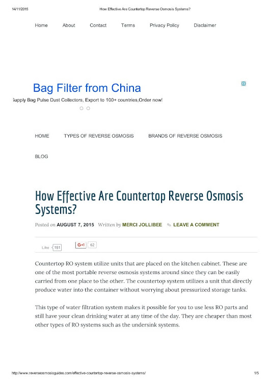 How effective are countertop reverse osmosis systems