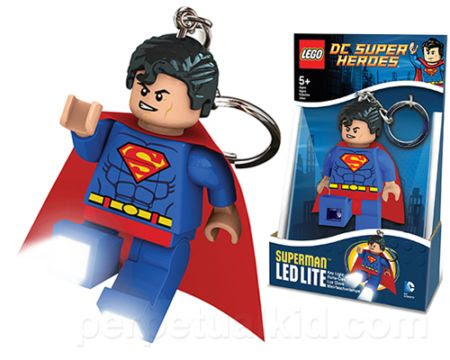 LEGO Superman LED key chain lights up your path